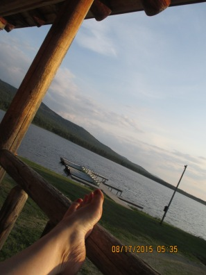 Barefeet, Maine air and a rocking chair. Perfect.